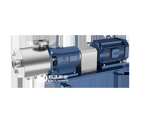 Homogeneous emulsion pump